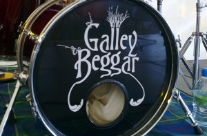 Galley Beggar drum skin graphic