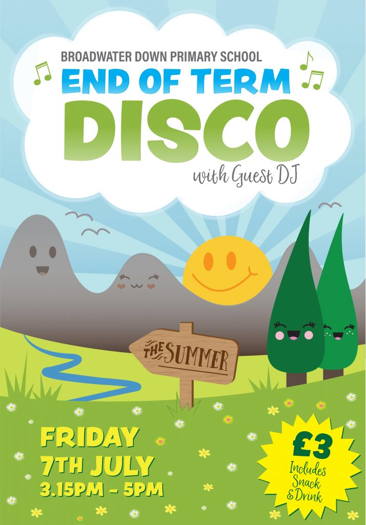End of Term Disco Poster A3
