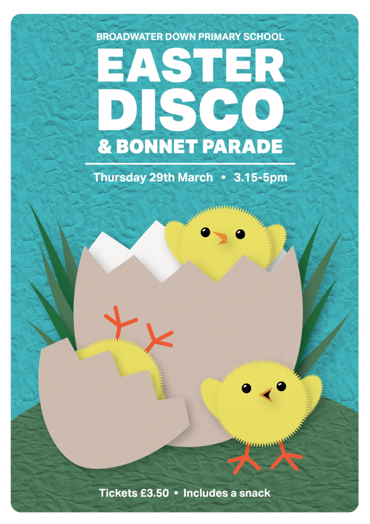 PTA Fundraising Easter Disco Poster