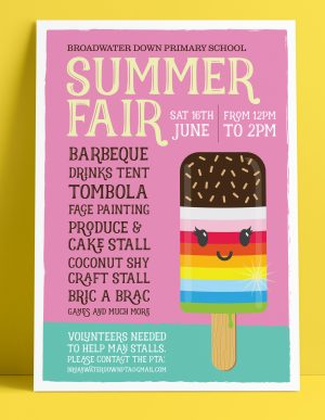 PTA Fundraising Summer Fair Poster