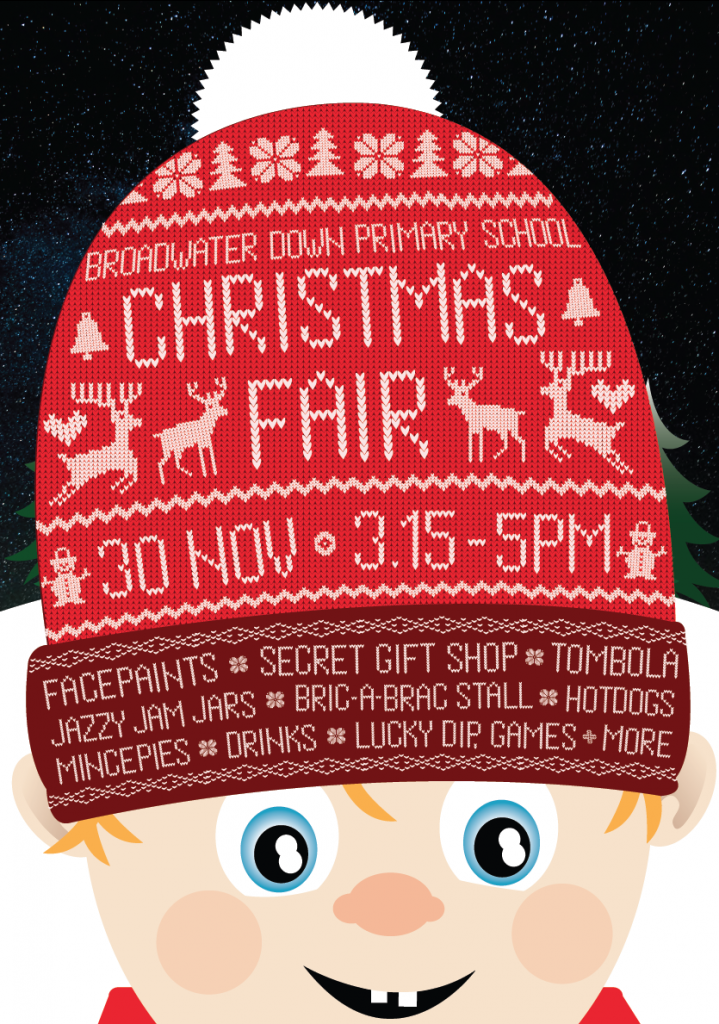 Broadwater Down Primary School Christmas Fair Poster