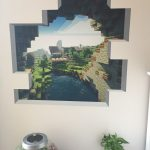 Minecraft Bedroom Wall Decal - Cave Entrance