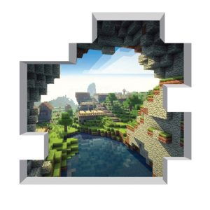 Minecraft Cave Entrance Decal for Bedroom