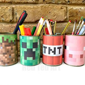 Minecraft Desk Tidy Labels
