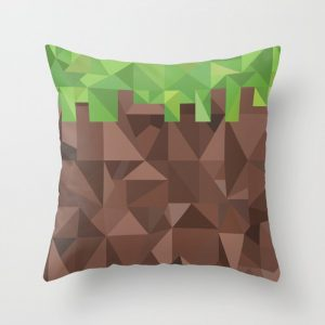 Minecraft Geometric Dirt Cushion