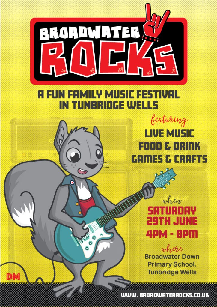 Broadwater Rocks Music Festival Poster