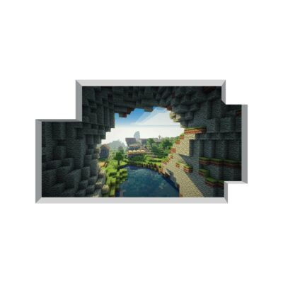 Minecraft Cave Entrance Wall Decal