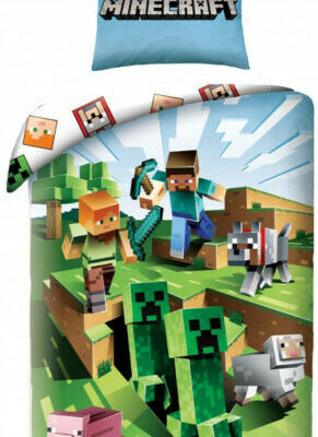 Minecraft Steve and the Creepers Bedding